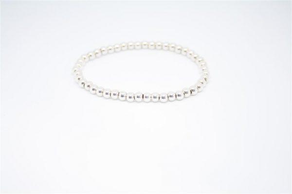 Zilveren kralen armband
