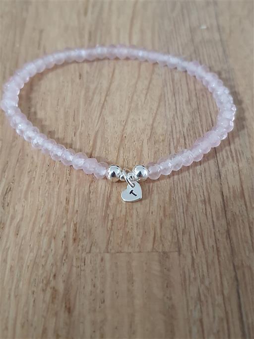 zilveren rozenkwarts armband