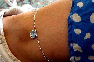 sterling zilveren enkelbandje